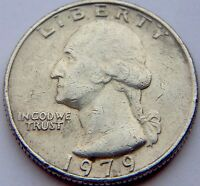 1979 UNITED STATES OF AMERICA QUARTER DOLLAR COIN