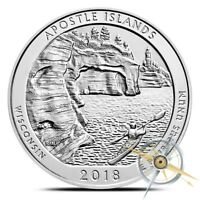 2018 AMERICAN 5 OZ .999 SILVER AMERICA THE BEAUTIFUL ATB APOSTLE ISLANDS COIN BU