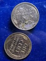 2 X 1954-P PROOF LINCOLN 1C  MID GRADE  BOTH COINS CLEARANCE PRICEDB41
