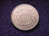 1867 SHIELD NICKEL BEAUTIFUL EXTRA FINE COIN  605