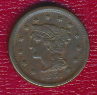 1851 BRAIDED HAIR LARGE CENT LATER DATE IN THE SERIES SHIPS FREE