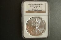 2011 W  BURNISHED SILVER EAGLE  GRADED  NGC MS 70  WITH GOV. PACKAGING