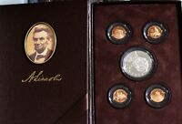 2009 US LINCOLN COIN & CHRONICLES PROOF SET   SILVER DOLLAR $ 4 PROOF PENNIES