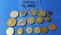 WORLD COINS   MEXICO LOT OF 16 DIFFERENT COINS