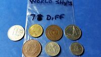 MIXED WORLD COINS LOT OF 7 DIFFERENT ALL WITH SHIPS
