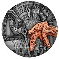 HADES GODS OF OLYMPUS 2OZ SILVER COIN NIUE 2018 ULTRA HIGH R