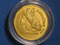 COOK ISLANDS 1996 $25 GRIZZLY BEAR GOLD CHOICE PROOF IN CAPS