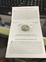 REPUBLIC OF THE MARSHALL ISLANDS FIRST MEN ON THE MOON $5 COMMEMORATIVE COIN