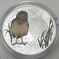2015 PROOF 20 DOLLAR FINE SILVER BABY BURROWING OWL UNCIRCULATED COIN F790