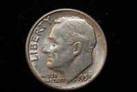 1957 UNITED STATES. TEN CENTS. STRUCK OFF CENTER. TRUNCATED 7.