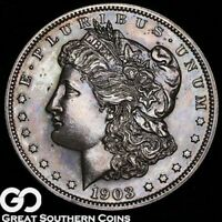 1903 MORGAN SILVER DOLLAR PROOF NICELY TONED GEM PF   ONLY 7