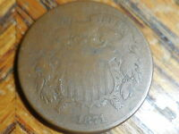 1871 SHIELD TWO CENT COIN SELLER'S  140A