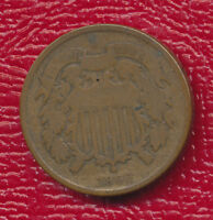 1866 COPPER TWO CENT PIECE GOOD TYPE COIN SHIPS FREE