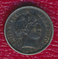 1905 BARBER SILVER DIME CHOICE ABOUT UNCIRCULATED SHIPS FREE