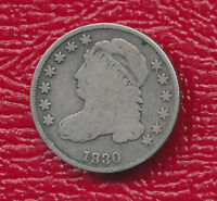 1830 CAPPED BUST SILVER DIME   TONING SHIPS FREE