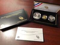 2016 3PC NATIONAL PARK COMMEMORATIVE PROOF 50C/S$1/G$5 COIN