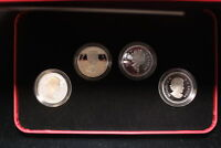 2004 CANADA. 50 CENTS. QUEEN'S PORTRAITS. STERLING SILVER SET. 4 COINS.