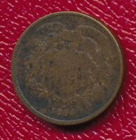 1865 TWO CENT PIECE GOOD TYPE COIN SHIPS FREE