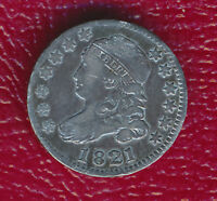1821 CAPPED BUST SILVER DIME EXTRAORDINARY CONDITION & TONING SHIPS FREE