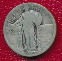 1925 STANDING LIBERTY SILVER QUARTER GOOD COIN SHIPS FREE