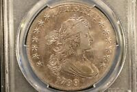 1799 DRAPED BUST DOLLAR PCGS XF DETAILS  QUESTIONABLE COLOR