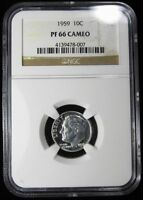 1959 ROOSEVELT DIME   NGC PF66 CAMEO