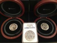 GODS OF OLYMPUS 2 OZ SILVER HIGH RELIEF   3 COIN SET   PERTH TUVALU   2014
