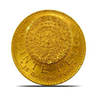 MEXICO 20 PESO GOLD COIN  0.4823 OZ  RANDOM YEARS LY FINE  XF  OR BETTER