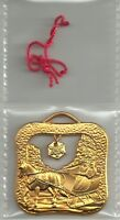 2008 ROYAL CANADIAN MINT  'A WINTERY SLEIGH RIDE' TREE ORNAMENT 10K GOLD PLATED