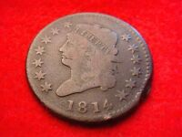 1814 CLASSIC HEAD LARGE CENT  KEY DATE COIN   22