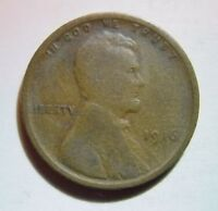 1916 CENT LINCOLN WHEAT  GOOD VG CONDITION USA COIN