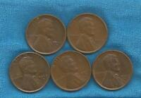 1929 D AU SHINY BROWN LINCOLN WHEAT CENT SEMI KEY DATE  COLORING