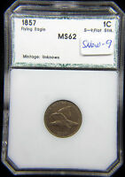 1857 FLYING EAGLE CENT SNOW-9 S-9 BU