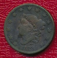 1828 CORONET HEAD LARGE CENT LARGE NARROW DATE SHIPS FREE