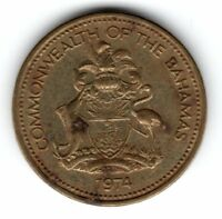 1974 COMMONWEALTH OF THE BAHAMAS 1 CENT