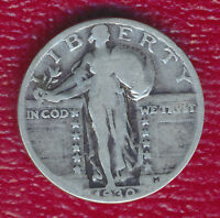 1930 STANDING LIBERTY SILVER QUARTER GOOD COIN SHIPS FREE