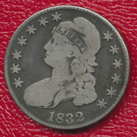 1832 CAPPED BUST SILVER HALF DOLLAR EXCEPTIONAL TONING SHIPS FREE