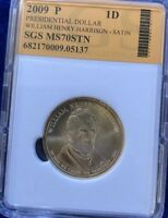 2009-S W. HENRY HARRISON $1 PROOF  SGS GRADED / SLAB LOW FIXED PRICE