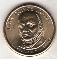 US. 2008-D. JOHN QUINCY ADAMS. 6TH PRESIDENT 1825-28 UNC