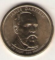 US. 2011-D. JAMES A. GARFIELD. 20TH PRESIDENT 3/4/1881-9/19/1881 UNC