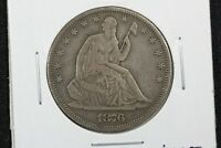 1876 LIBERTY SEATED HALF FINE