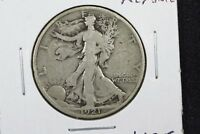 1921 WALKING LIBERTY HALF CHOICE VG