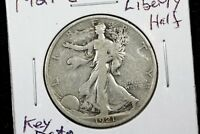 1921 S WALKING LIBERTY HALF FINE
