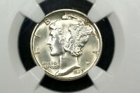 1939 D MERCURY DIME NGC MS 65 FB