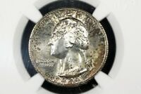1941 S WASHINGTON QUARTER GEM TONED UNC NGC MS 65