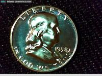 1958 50C GEM PROOF FRANKLIN HALF DOLLAR