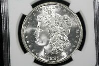 1881 S MORGAN DOLLAR BLAZING NGC MS 65