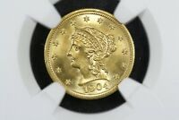 1904 $2.5 LIBERTY GOLD QUARTER EAGLE BLAZING NGC MS 65