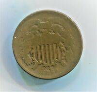1864 TWO CENT PIECE GOOD CONDITION HPBX