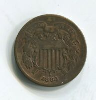 1864 TWO CENT COIN EXTRA FINE DVR915